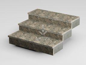 Ступень накладная из Юрьевского гранита 350x30x1000 термообработанная фото