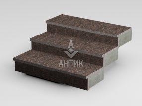 Ступень накладная из Жадановского гранита 350x30x1000 термообработанная фото