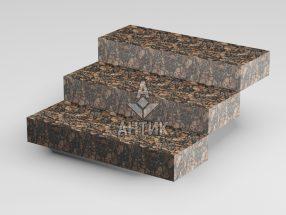 Ступень цельная из Брусиловского гранита 350x150x1000 термообработанная фото