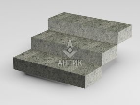 Ступень цельная из Константиновского гранита 350x150x1000 термообработанная фото