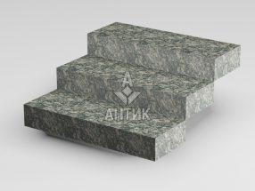 Ступень цельная из Корнинского гранита 350x150x1000 термообработанная фото