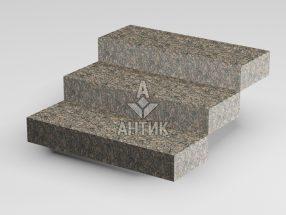 Ступень цельная из Крупского гранита 350x150x1000 термообработанная фото