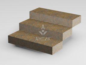 Ступень цельная из Новоданиловского гранита 350x150x1000 термообработанная фото