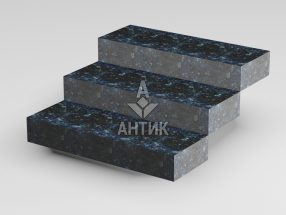 Ступень цельная из Очеретянского лабрадорита 350x150x1000 термообработанная фото