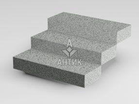 Ступень цельная из Покостовского гранита 350x150x1000 термообработанная фото