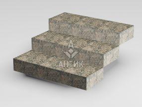 Ступень цельная из Юрьевского гранита 350x150x1000 термообработанная фото