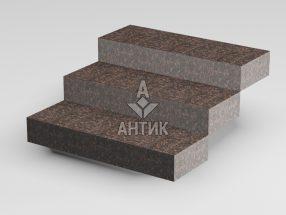 Ступень цельная из Жадановского гранита 350x150x1000 термообработанная фото